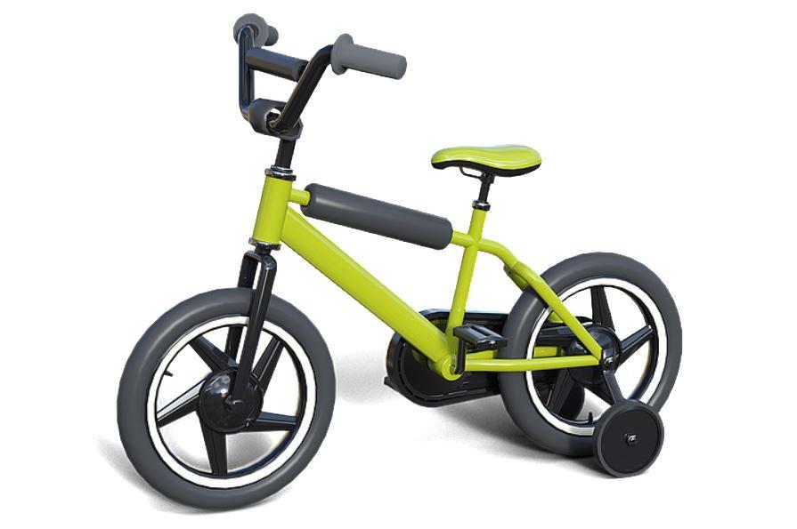 Vélo avec stabilisateurs